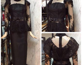 Pikulraht Thai Dress Rama5 stly- BLACK