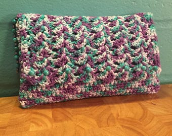Crochet Clutch with Beads