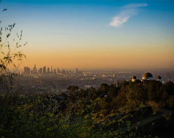 Downtown Los Angeles/ Observatory Sunrise 1 Greeting Card
