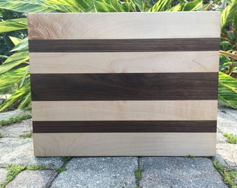 Handmade Hardwood Cutting Board - Walnut, Maple