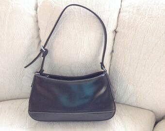 Liz Claiborne Black Faux Leather Shoulder Bag