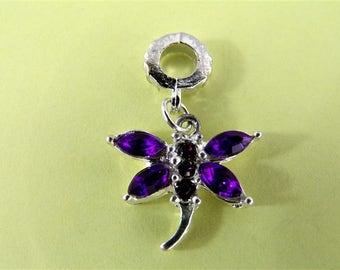 breloque papillon violet apprêt de bijouterie fantaisie fabrication bijoux bracelet boucles d'oreilles collier bijoux de sac chaine cheville