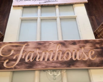 "Rustic wall sign ""farmhouse"""