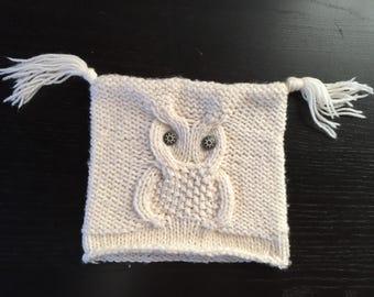 Baby Hat/knitted bima milk fiber and merino wool