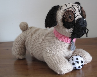Knitted Toy Pug Dog