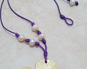 Collar de perlas y trébol/Clover and Pearls necklace