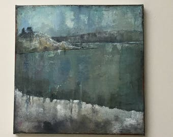 Original painting 'Snow at Starnberg'