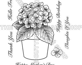 Beautiful Hydrangea Clear Stamp Set