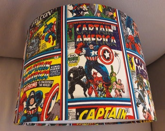 Captain America Comic Style Lampshade