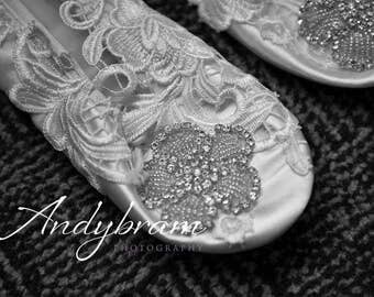Custom made bridal ballet shoes, personalised, fairytale, princess, bespoke