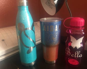 Personalized metal tumblers