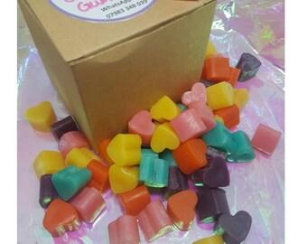 50 Mini Melt Hearts in gift box - Goodie Goodie Gumdrops fragrance