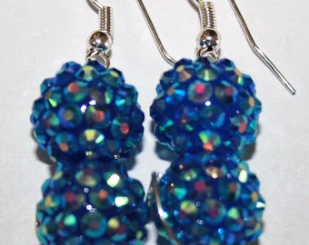 Blue Sparkle Full Moon Jewelry- Made by order