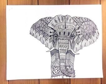 elephant - print