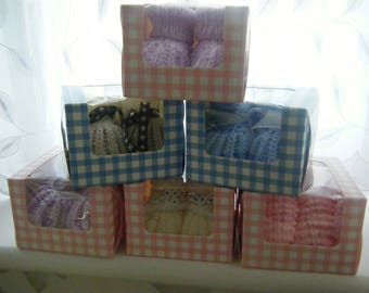 Sale  Price  Reduced  by 10%  New Baby Hand crafted baby bootees.