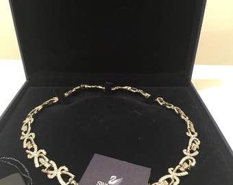 Vintage Swarovski crystal necklace with tags and box
