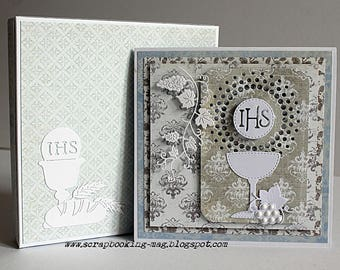First communion, handmade card, gift