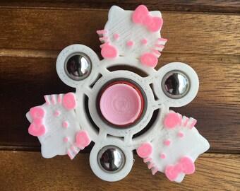 Custom Hello Kitty Hand Ball Spinner Fidget Toy Cat EDC w/ ABEC 9 Bearing