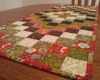 Quilted Table Runner, Christmas, Topper, Rectangular, Table decor, Handmade, Centerpiece, Coffee Table Runner