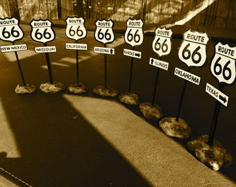 Route 66 mini signs
