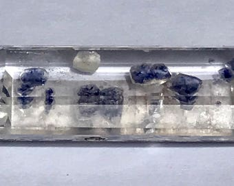 Quartz Crystal Included Blue/Purple Fluorite-Faceted