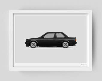 BMW e30 325i limited edition art poster