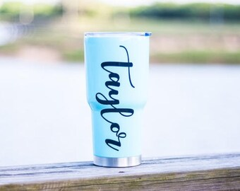 Decal For Yeti | Decal For Women | Personalised Decal | RTIC Decal | Tumbler Decal | Ozark Decal | Yeti Monogram Decal |