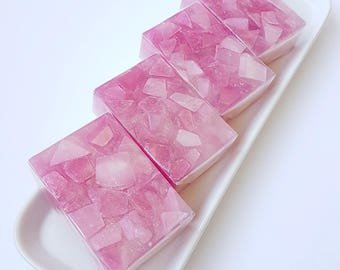 Crystal Glycerin Soap, Pink Lemonade Crystal Soap
