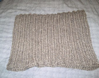 Big Ribbed Knitted Cowl