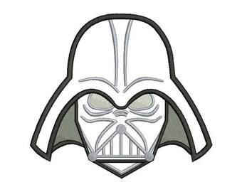 Darth Vader Applique Embroidery Design - 4 SIZES