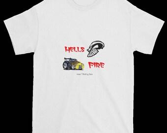 Auto Short Sleeve T-Shirt Hells Fire  Gildan 2000