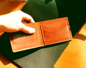 Two-sided cardholder for Him, Imperceptible wallet, fine-drawn