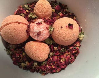 Pomegranate  Rose bath bombs