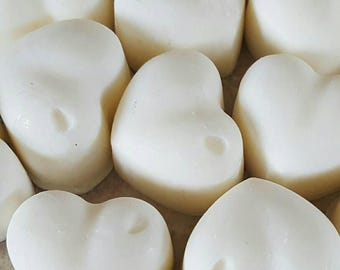 5 Scented wax melts, Thai Lime & Mango heart shaped melts, soy wax melts, soy wax tarts, birthday gift, home fragrance, wedding favours