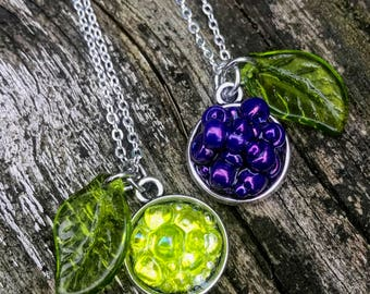 Grape Cluster Necklace