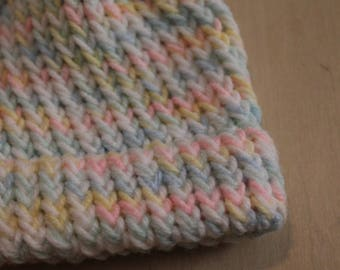 Multicolored preemie/newborn knit cap