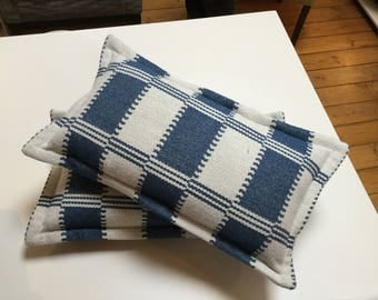 Pair of oblong cushion covers in William Yeoward fabric - inners not included