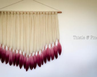 Dip Dyed Roving Wall Hanging