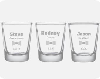 Personalized Groomsmen Glass Gifts, Engraved Groomsmen Glass Gifts, Personalized Shot Glasses, Best Man Shot Glasses, Custom Shot Glasses