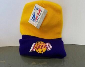 NWT Vintage 90's NBA Los Angeles Lakers Beanie Hat
