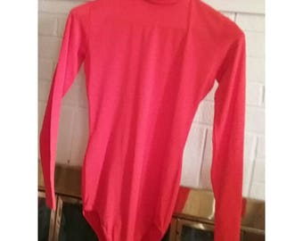 Immaculate 70s tomato red bodysuit