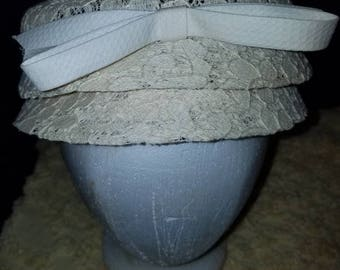 Cream Vintage lacy hat. Spring has sprung
