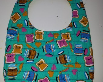 Bib Novelty Print - Peanut Butter and Jelly