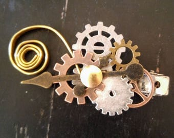Steampunk Clockwork Hair Clip