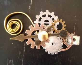 Steampunk Clockwork Hair Clip