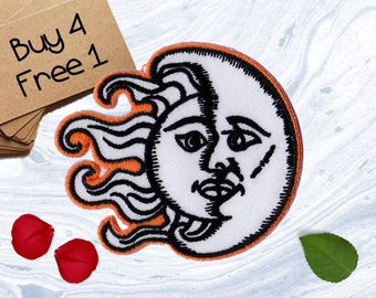Sunshine Patches Crescent Moon Patches Iron On Patch Sew On Patch Patches For Jackets