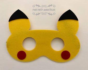 Pikachu Party Masks, Pokemon Party Favors, Pokemon Birthday, Pokemon Party Decorations, Pokemon Banner, Pokemon Party, Pokemon, Pikachu