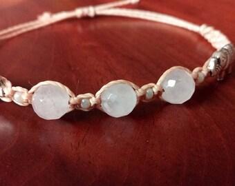 Rose Quartz bracelet - heart Savior