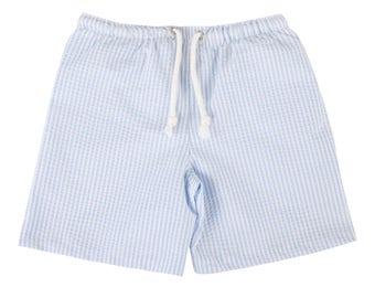 Puuper swim shorts blue white junior Lauren striped