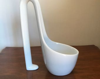 White Porcelain Ladle, Saxy Style. I guess the Ladle was made in 60s.